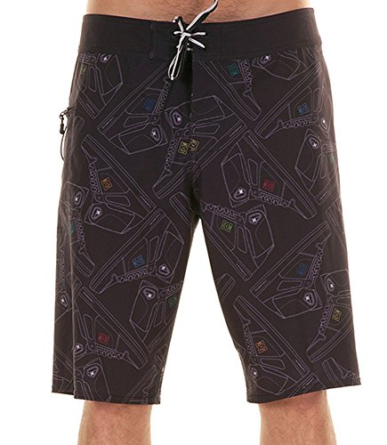DC HI TOP BOARDSHORTS BLACK ESTATE 2013-28