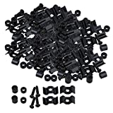 Yibuy Black String Tree Guide Retainer for Replacement Guitar Parts Set of 50