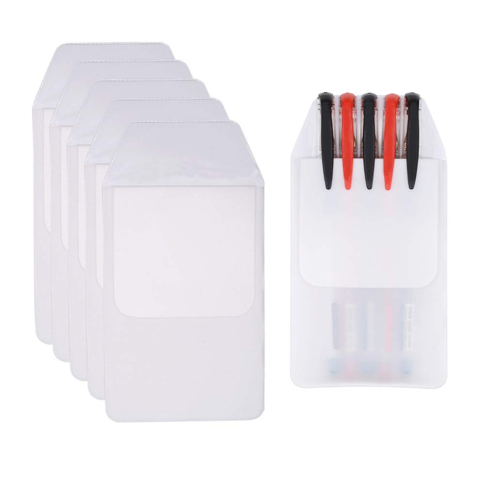 Hantier 50 Pcs White Pocket Protector for School Hospital Office; Shirts, Lab Coats, Pants Pocket Protector Supplies for Pen Leaks