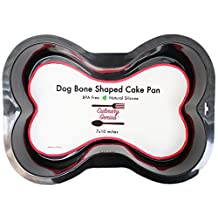 Bone Shaped SILICONE Cake Pan for Dog Birthday Party Novelty 7x10 inches Small