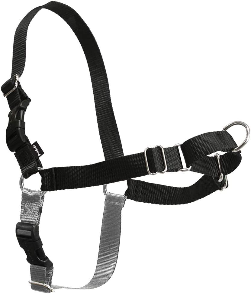 PetSafe Easy Walk Dog Harness, Medium, Black/Silver