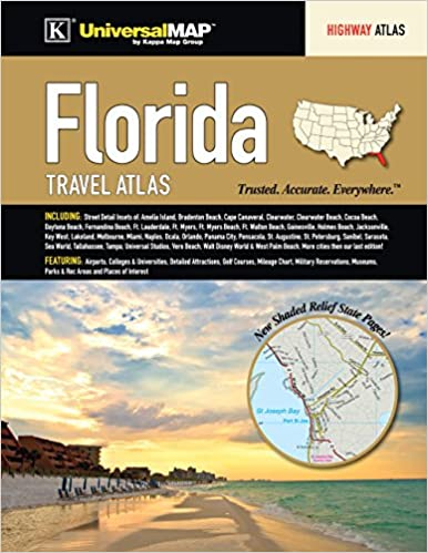 Florida State Travel Atlas: Kappa Map Group: 9780762585540: Amazon ...