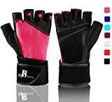 Workout Gloves With Wrist Support - Best Gym Gloves - Premium Weight Lifting Gloves For Gym - Ideal...