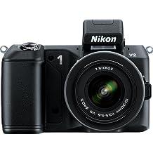 Nikon 1 V2 14.2 MP HD Digital Camera with 10-100mm VR 1 NIKKOR Lens (Black)