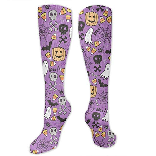 Halloween Doodle with Skulls Bat Compression Socks for Women and Men - Best Medical,for Running, Athletic, Varicose Veins, Travel. for $<!--$8.80-->