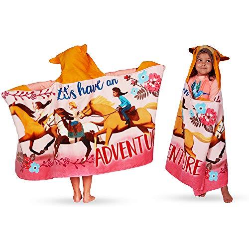 "Spirit Riding Free Franco Kids Bath and Beach Soft Cotton Terry Hooded Towel Wrap 24/"" x 50/"""