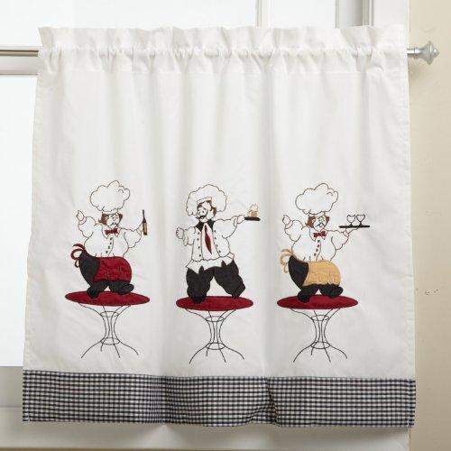 Curtains Ideas 36 inch tier curtains : Lorraine Home Fashions Cheers 60-inch X 36-inch Tier Curtain Pair ...