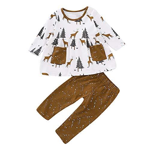 Anniversaire Fille Hiver Costume Impression Tailleur Noël Poche Enfants Tops Pantalonangelof Blanc Vetement De Imprimé Flocons Deguisement Christmas Accessoires Cadeau Haut qafwBB