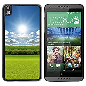 Nature Sunshine Grass Field Cloudy Skyscape Durable High Quality HTC Desire 816-1 Phone Case