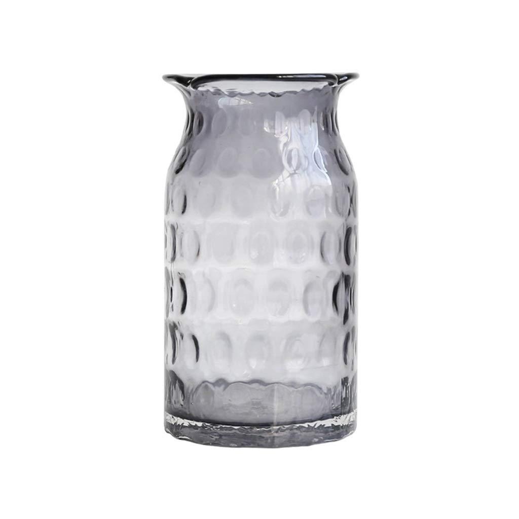 花瓶の装飾、ホームガラス透明ダイニングテーブル花瓶フラワーアレンジメント偽花デスクトップ花瓶 (Color : F) B07SVYPG2J F