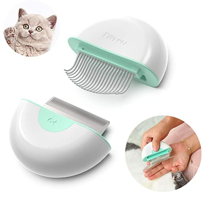 Pet Grooming Shedding Brush for Dog Cat Hair, Mini 2 in 1 deShedding Massage Comb, Dog Brush to End Shedding, Suitable for Long Short Haired Pets