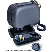Featured Protective Case for Bose SoundSport Free Truly Wireless Sport Headphones Charger Box, Mesh pocket for Cable and other accessories (Midnight Blue)