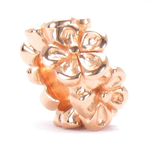 Authentic BELLA FASCINI 14K Rose Gold Vermeil Flower Bouquet Spacer Bead - Fits Charm Bracelets