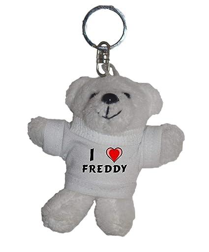 Shopzeus Llavero de Oso Polar de Peluche con Amo Freddy en ...
