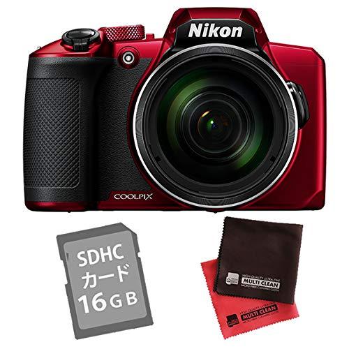 【SD16GB&クロス付き】ニコン コンパクトデジタルカメラ COOLPIX B600 レッド (デジカメ/コンデジ)(Nikon)   B07NCWWHF4