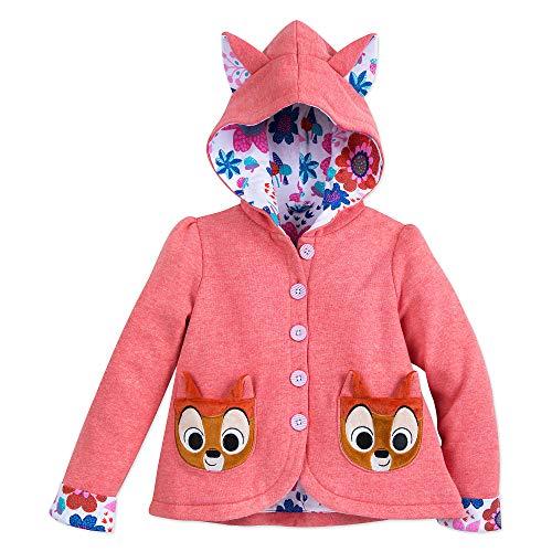 Disney Bambi Hoodie Jacket for Girls Furrytale Friends Size 3T Orange