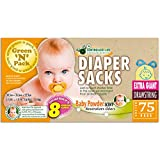 Green'N'Pack Scented Baby Drawstring Heavy Duty Diaper Sacks, X-Large