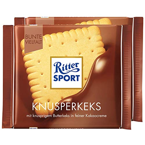 Ritter Sport Butter Biscuit Chocolate Bar Candy Original German Chocolate 100g/3.52oz (Pack of 2)