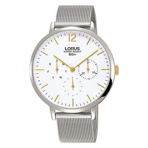 Lorus Women's 38mm Steel Bracelet & Case Quartz White Dial Analog Watch RP689CX9