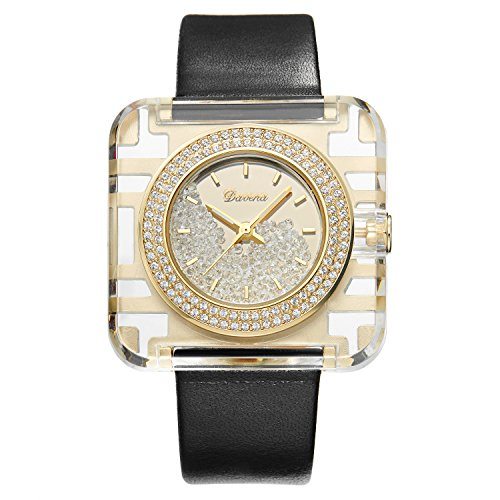 Gold Tone Floating Crystal Watch - Swarovski Crystal Accented Women's Watch. Gold tone. NEW TREND with Floating Crystals! Precision Crafted to the Highest Quality! UW311992