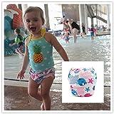 ALVABABY Swim Diapers 2pcs One Size Reusable