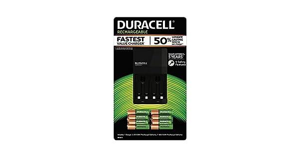 Amazon.com: Duracell Cargador de batería con batería ...