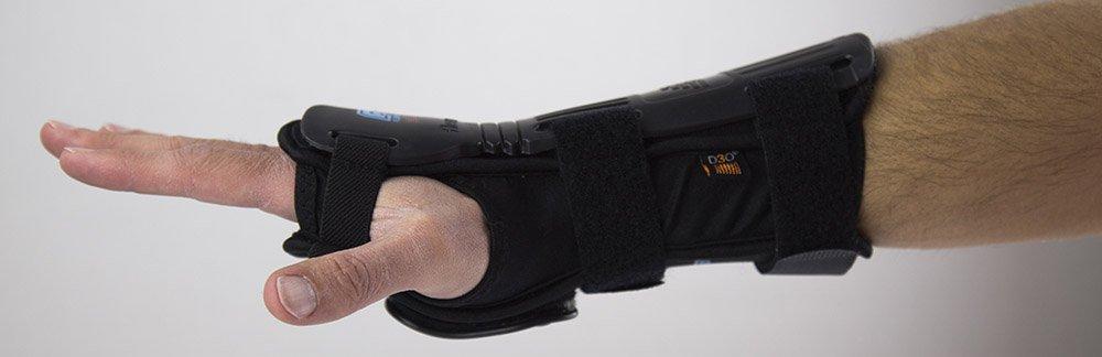 Demon Paire dattelles de Poignet Snowboard 2016 Flexmeter Double Noir