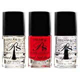 DREAM BY PS COSMECEUTICAL Professional Nail Polish Set, 3 Pack Starter Kit Includes – Top Coat, Base Coat, Dream Red Best Seller Nail Polish, Safe, Non-Toxic, Best Polishes for Manicure, Pedicure For Sale