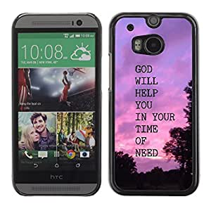 YOYO Slim PC / Aluminium Case Cover Armor Shell Portection //GOD WILL HELP YOU //HTC One M8