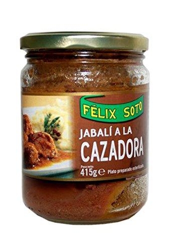 Félix Soto, Conserva de carne de cerdo (Jabalí a la Cazadora) - 415 gr.: Amazon.es: Alimentación y bebidas