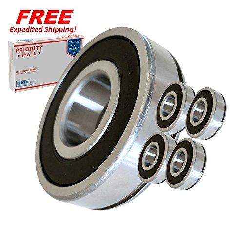 (4 Pack) Hustler 783555, Jacobsen 552184 Spindle Bearings - High Temp Grease - OEM UPGRADE - HD ()