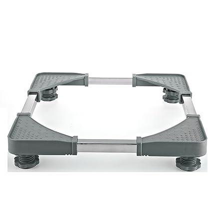 LongYu Muebles telescópicos Base móvil Multifuncional Dolly Roller Ajustable con Ruedas giratorias de Goma de Bloqueo