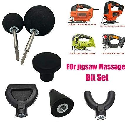 Percussion-Massage-Tip /& Bit für Stichsägen-Adapter-Befestigung