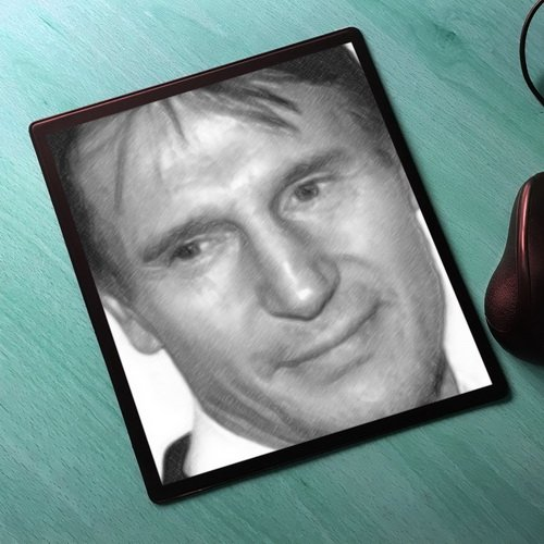 Seasons Liam Neeson - Original Art Mouse Mat #js002