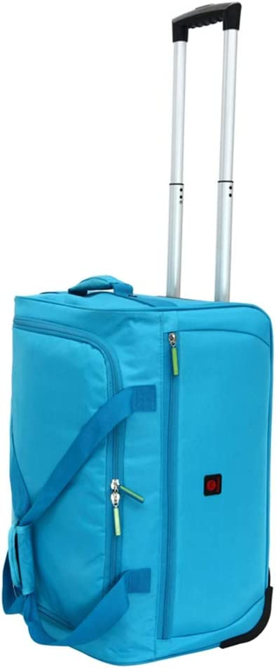 Color : Blue, Size : 433220 Travel Bags Waterproof Pull Rod Portable Boarding Widening Trolley Case Luggage Suitcases Carry On Hand Luggage Durable Hold Tingting