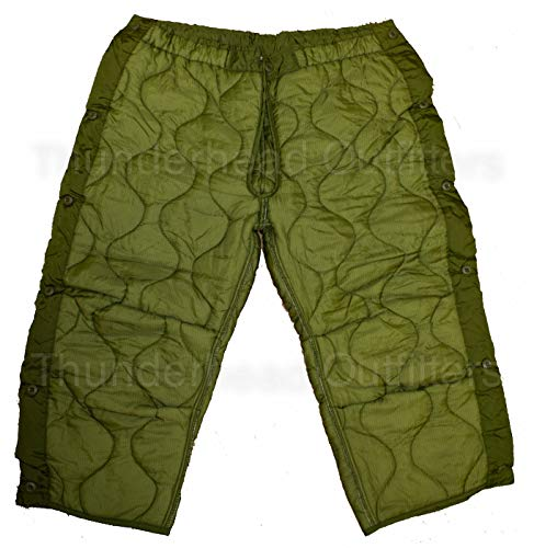 Military Field Pant Liner for Cold Weather Trousers - Quilted - Olive Drab Green - Genuine Army Issue by U.S. Government Contractor