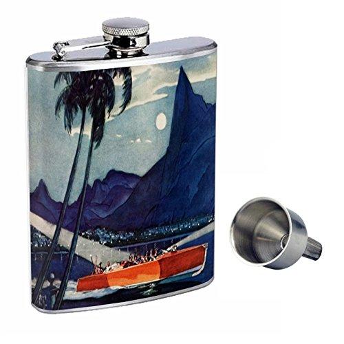 限定価格セール! ヴィンテージボートPerfectionスタイルでポスター8オンスステンレススチールWhiskey B016XLIZ7Y Flask with d-005 Free with Funnel d-005 B016XLIZ7Y, 手数料安い:ce4595bd --- kiddyfox.in