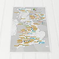 Maps International - Cycle Climbs Collect and Scratch Off Travel Map - Great Gift for Cyclists - 29 x 42cm
