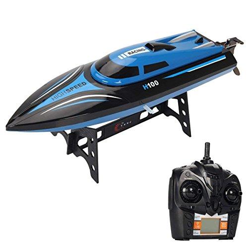 Costzon H100 2.4G RC High Speed Racing Boat 180° Flip Radio Control, Blue
