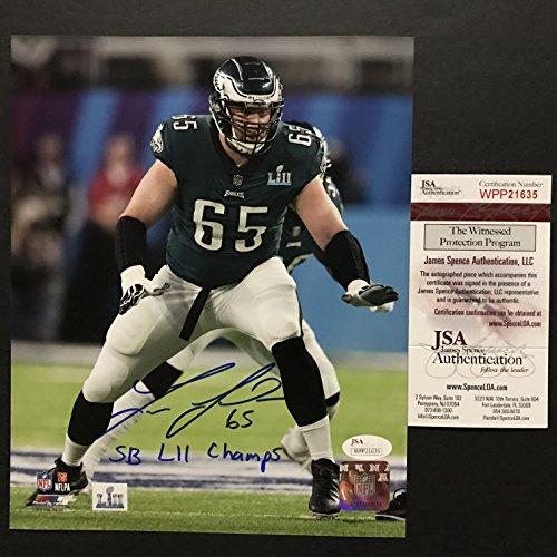 Autographed/Signed Lane Johnson Inscribed SB LII Champs Philadelphia Eagles Super Bowl 52 Champions 8x10 Football Photo JSA COA