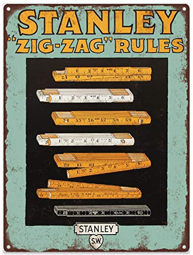 Amazon.com: Yilooom 1920s Stanley Tools Zig Zag Reglas de ...