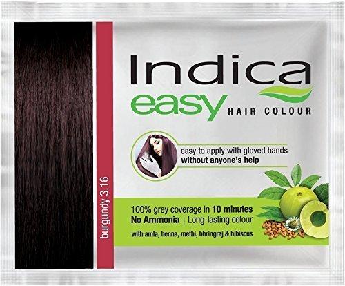 Nexxa 6 Pc Indica Easy10 Minutes Herbal Hair Color Shampoo Base Burgundy Herbs