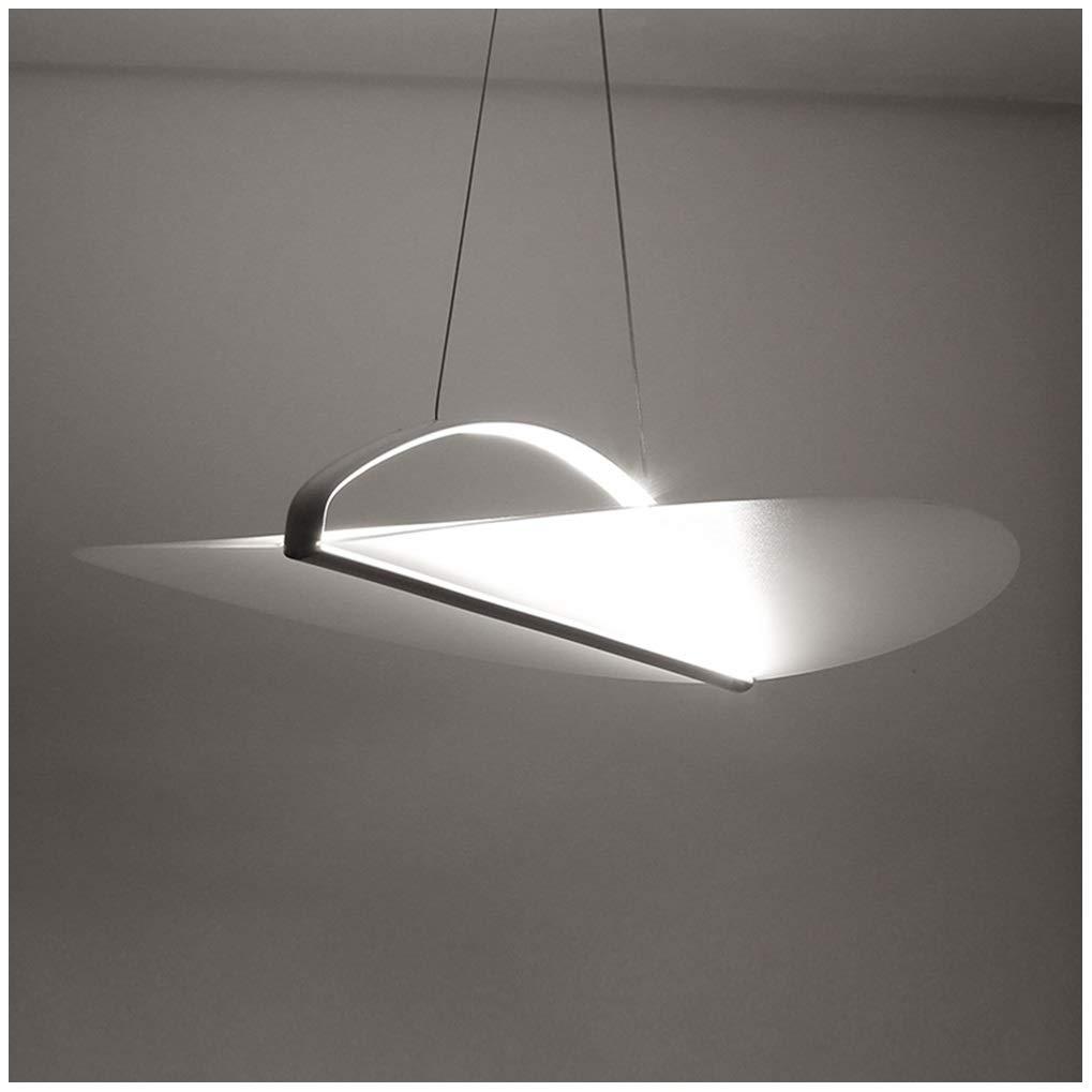ペンダントライトモダンシャンデリアアクリル備品シンプルなリビングルームの寝室バー吊りランプレストラン天井灯ホワイト60センチ   B07T7NS9FH