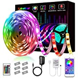 LED Strip Lights, L8star Smart Color Changing Rope Lights 16.4ft/5M SMD 5050 RGB Light Strips with Bluetooth Controller Sync to Music Apply for TV, Bedroom, Party and Home Decoration (16.4ft): more info