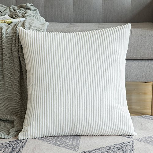 MIULEE Decoration Corduroy Soft Soild Decorative Square Throw Pillow Covers Cushion Cases Pillow Cases for Couch Sofa Bedroom Car 24 x 24 Inch 60 x 60 -