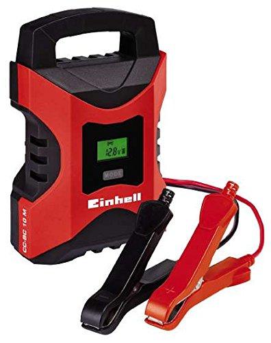 Einhell Batterie Ladegerä t CC-BC 10 M (fü r Batterien von 3 - 200 Ah, Ladespannung 6 V / 12 V, Winterlademodus, LCD-Batteriespannungs- und Ladefortschrittsanzeige) 1002241