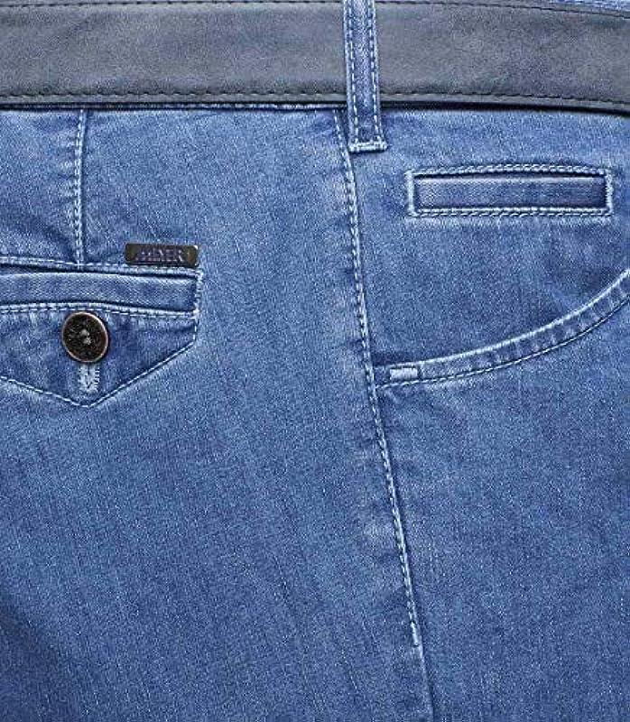 Meyer męskie spodnie stretch Dublin 1-4122, rozmiar męski: 28, kolor: jasnoniebieski: Odzież