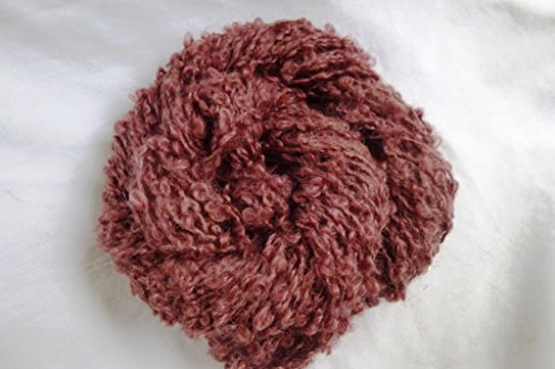 Adobe Brick Red Brown Loop Boucle Textured Sports Weight Mohair Yarn