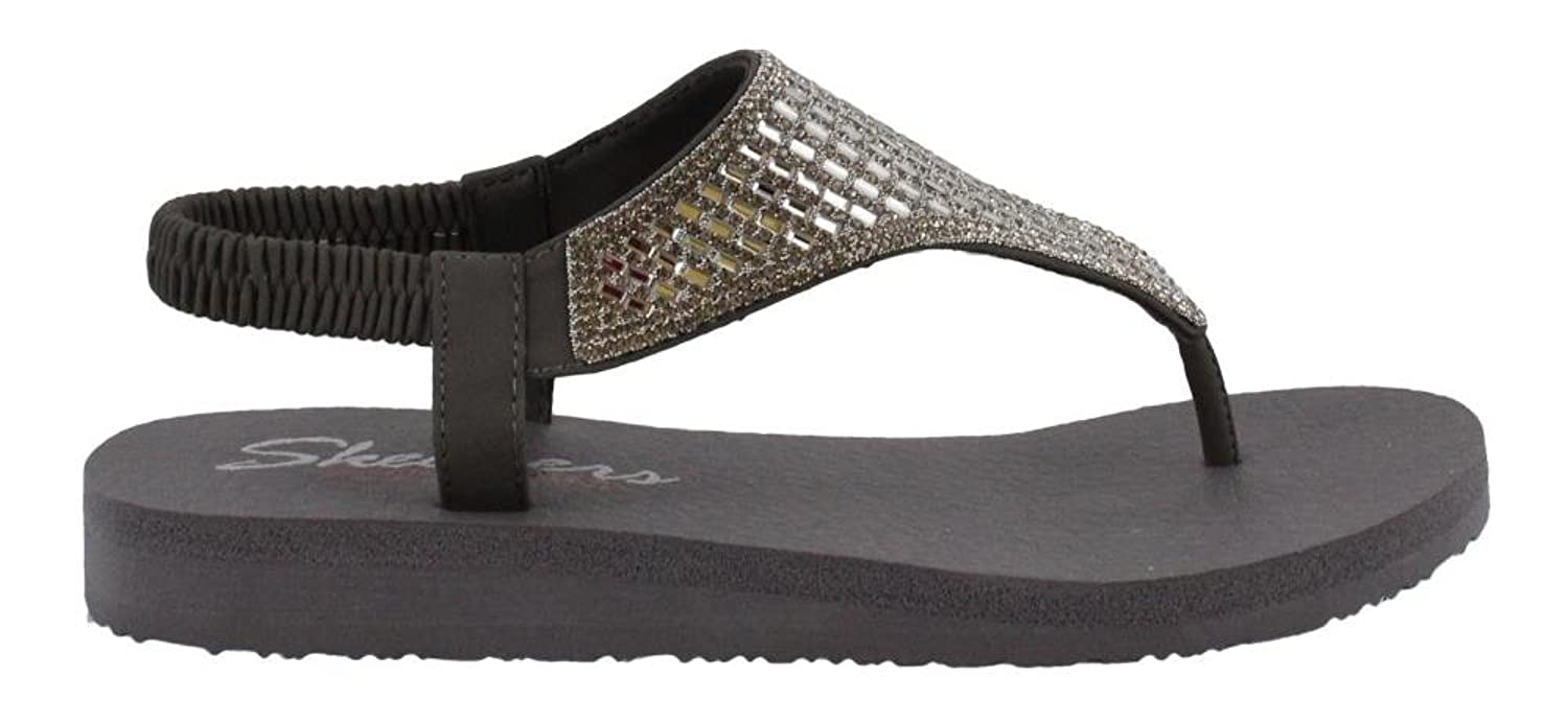 a1d7472c37ae Skechers Cali Women s Meditation-Rock Crown Flat Sandal Rhinestone ...