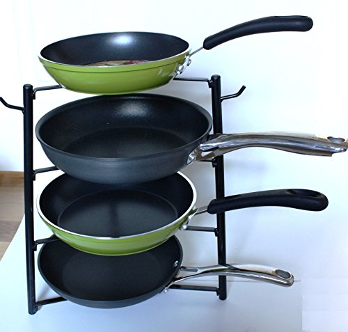 Cook N Home Pot Pan Rack Cabinet And Pantry Organizer Black In The Uae See Prices Reviews